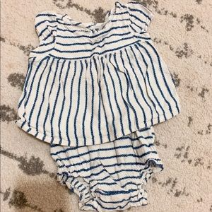 Striped girl set